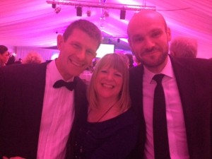 Left to Right; D. Snelgrove (Natwest), L. Collard (Applied Trading) and P. McGerty (McLintocks) enjoying the evening's festivities.